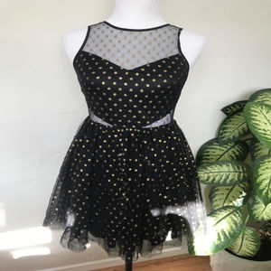 Express Black Tulle Cut out Party Dress